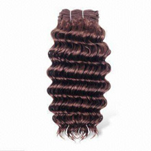 Jerry curl synthetic hair weft